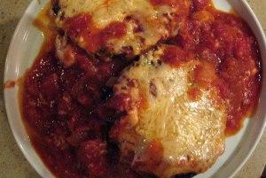 Portobello Parmesan with Homemade Marinara