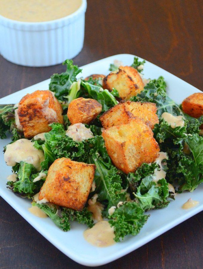 Chipotle Kale Caesar Salad