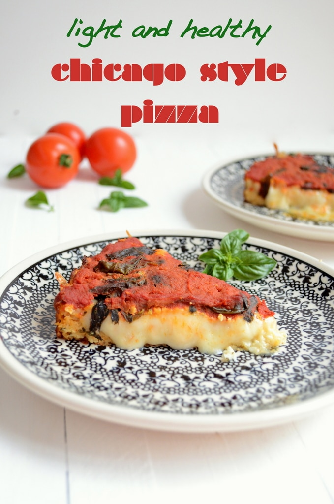 Light and Healthy Chicago Style Pizza with Cauliflower Crust