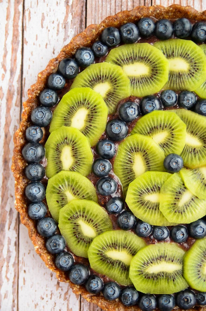 Raw Blueberry and Kiwi Tart - Blissful Basil | Healthy ...