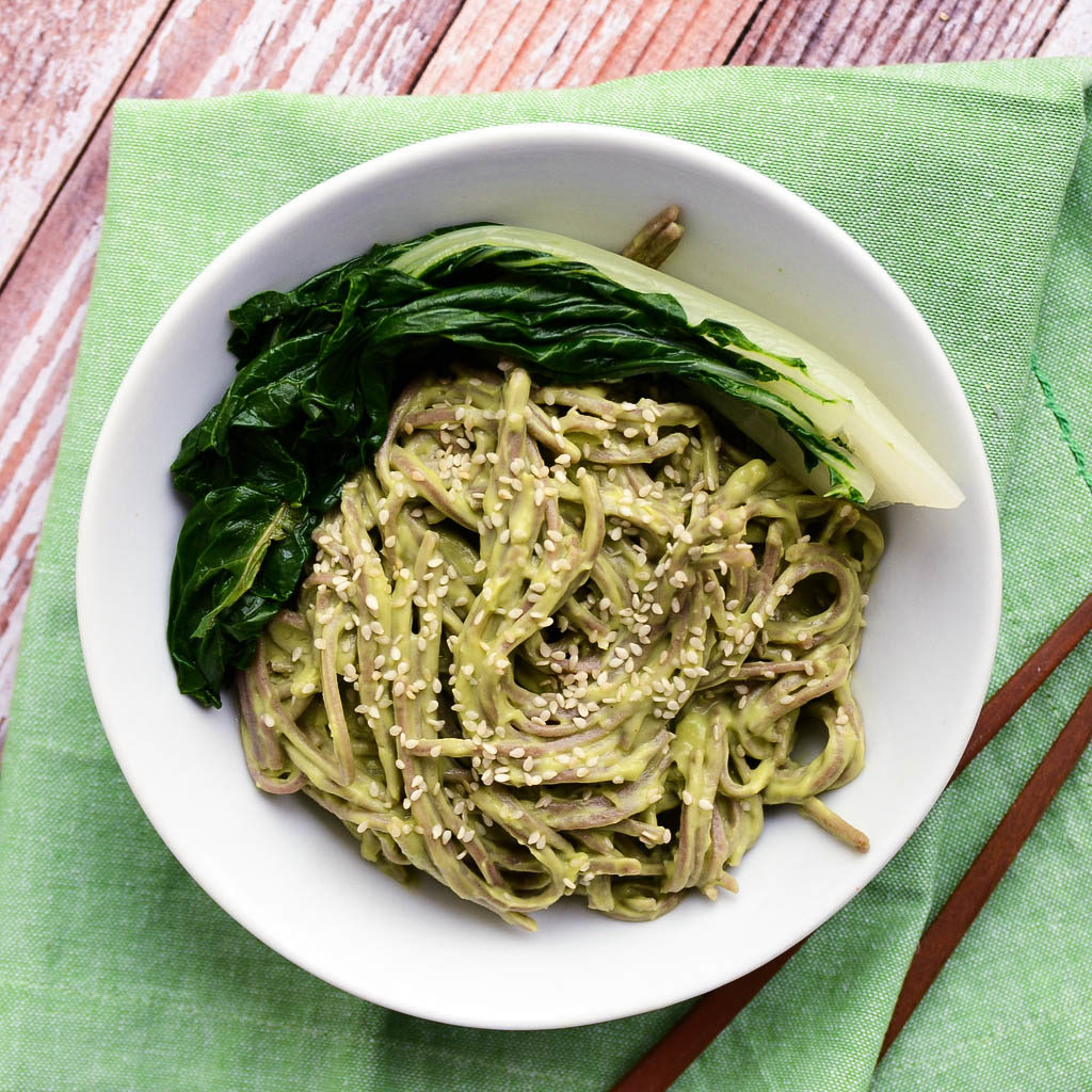 Creamy Sesame and Avocado Soba Noodles