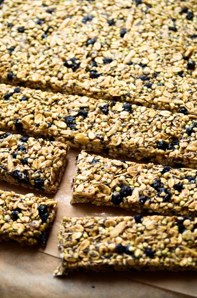 Blueberry Buckwheat Granola Bars