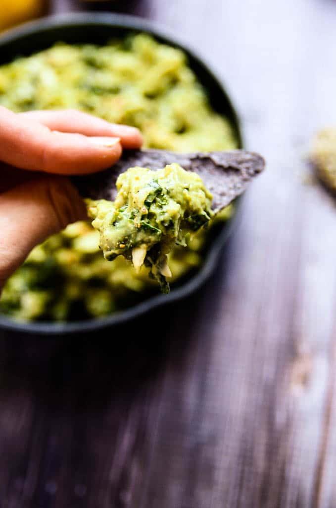 Creamy Avocado Artichoke + Kale Dip