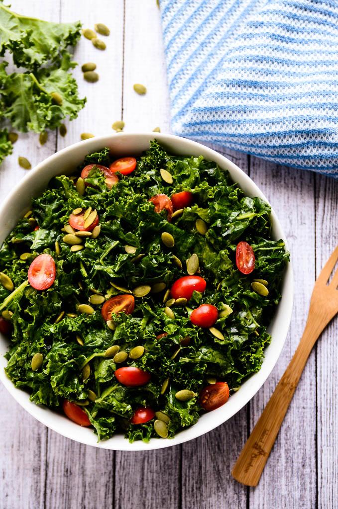Enlightening Marinated Kale Salad