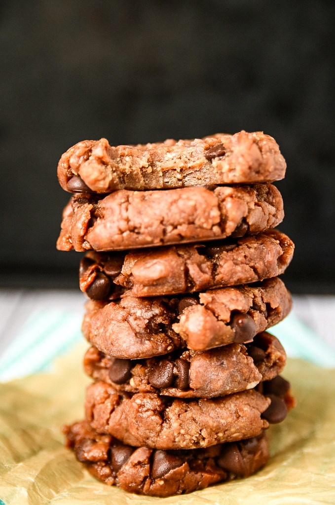 Vegan Chocolate Chip No-Bake Freezer Cookies