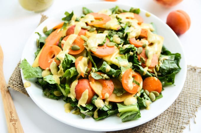 Kale and Stone Fruit Salad