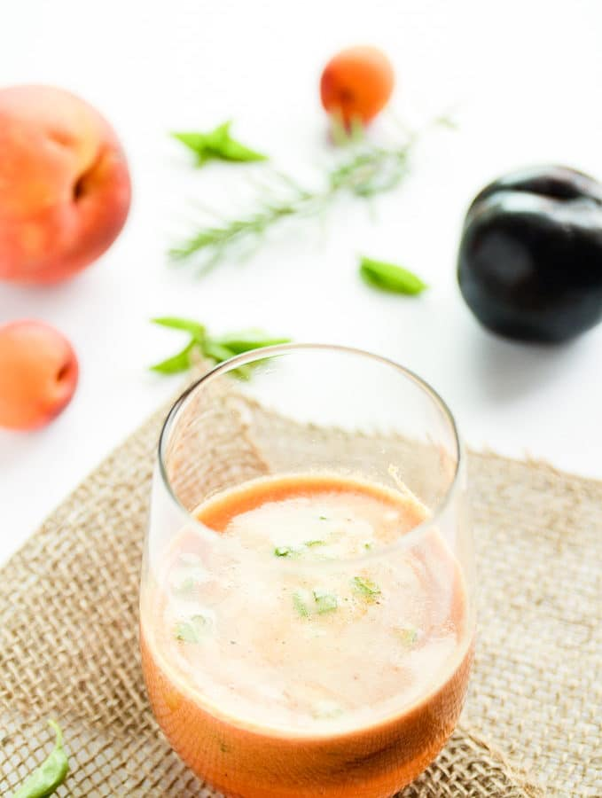 Late Summer Stone Fruit & Fresh Herb Sangria