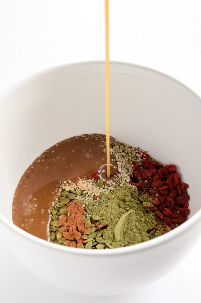Matcha Green Tea, Buckwheat & Goji Granola