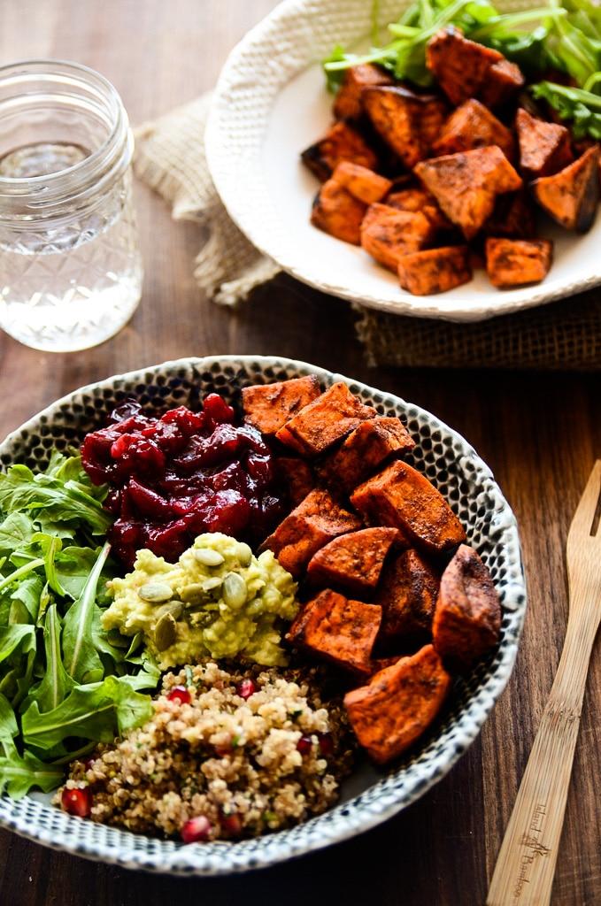 Sweet Potato, Cranberry + Quinoa Power Bowl