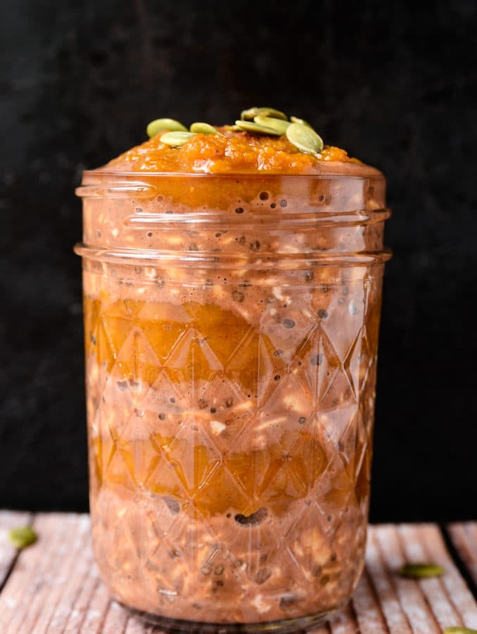 Chocolate-Pumpkin Overnight Oats