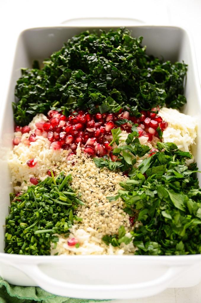 The Festive Detox Salad with Cauliflower, Kale & Pomegranate