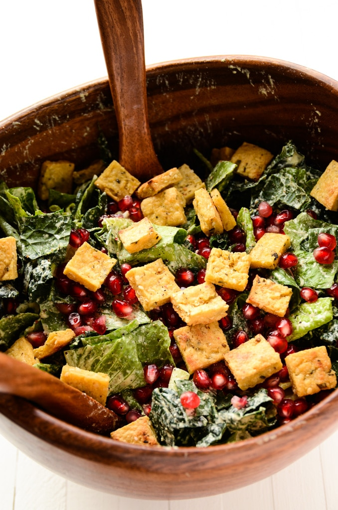 Holiday Caesar Salad with Hemp Seed Dressing | vegan, gluten-free