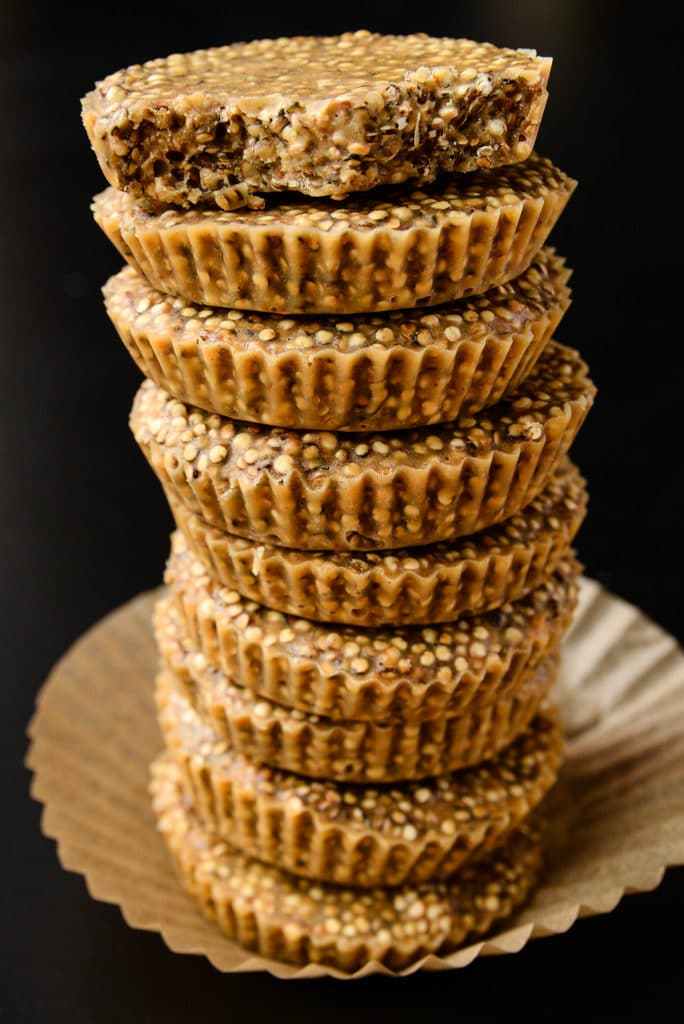 6-Ingredient No-Bake Quinoa Peanut Butter Cups