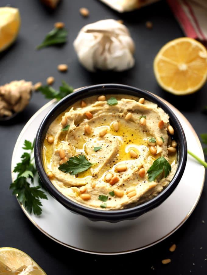 Creamy Artichoke, Leek & White Bean Hummus