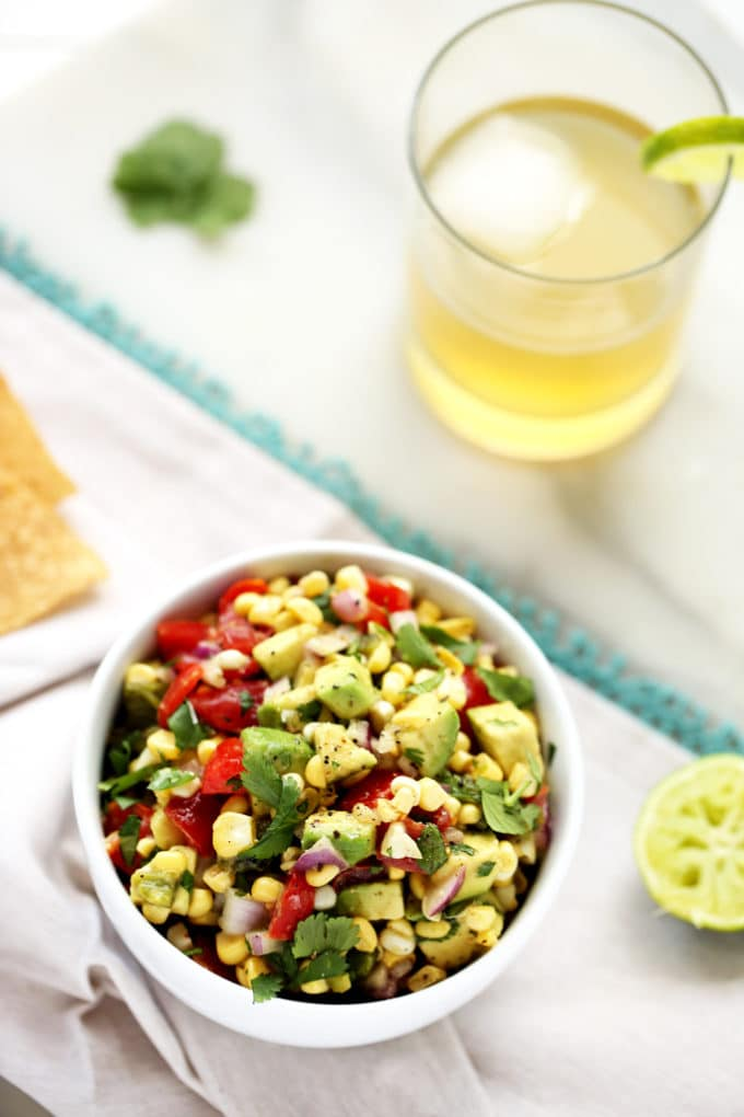 Sweet & Smoky Poblano, Corn, and Avocado Salsa - Blissful ...