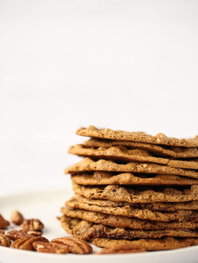 Thin & Chewy Pecan Cookies (Vegan, Gluten-Free)