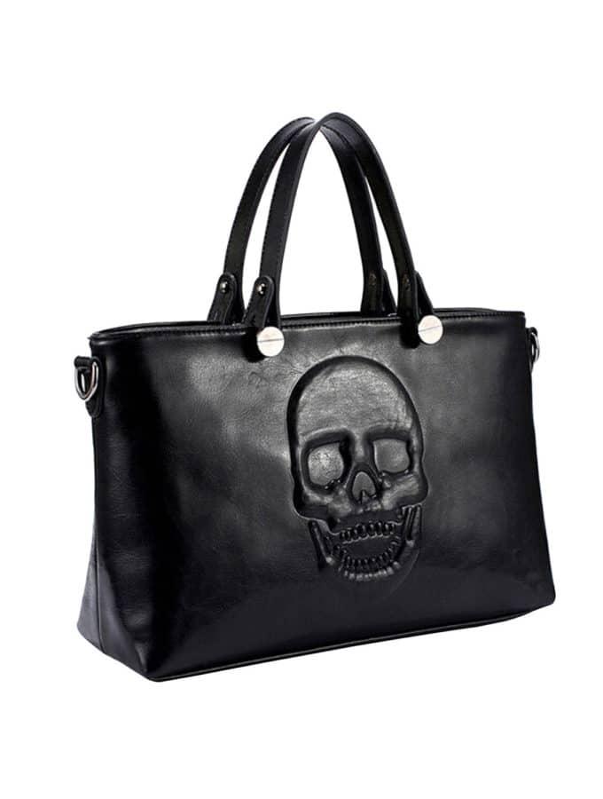 Giveaway: Mechaly Skully Black Vegan Leather Handbag