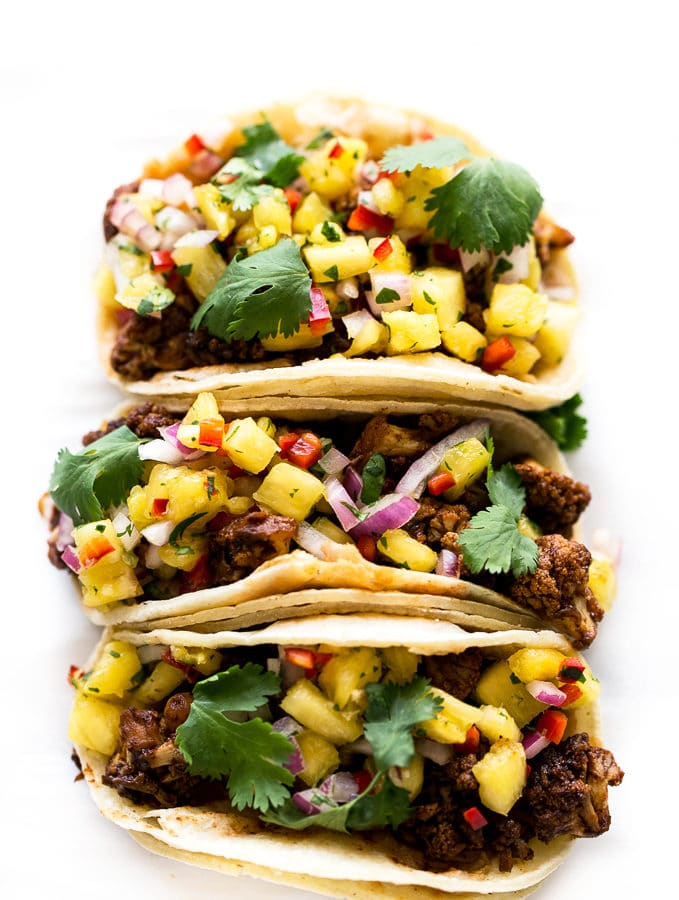BBQ Cauliflower Tacos with Pineapple Salsa (Vegan, GF) + A Simple Morning Rule to Increase Productivity