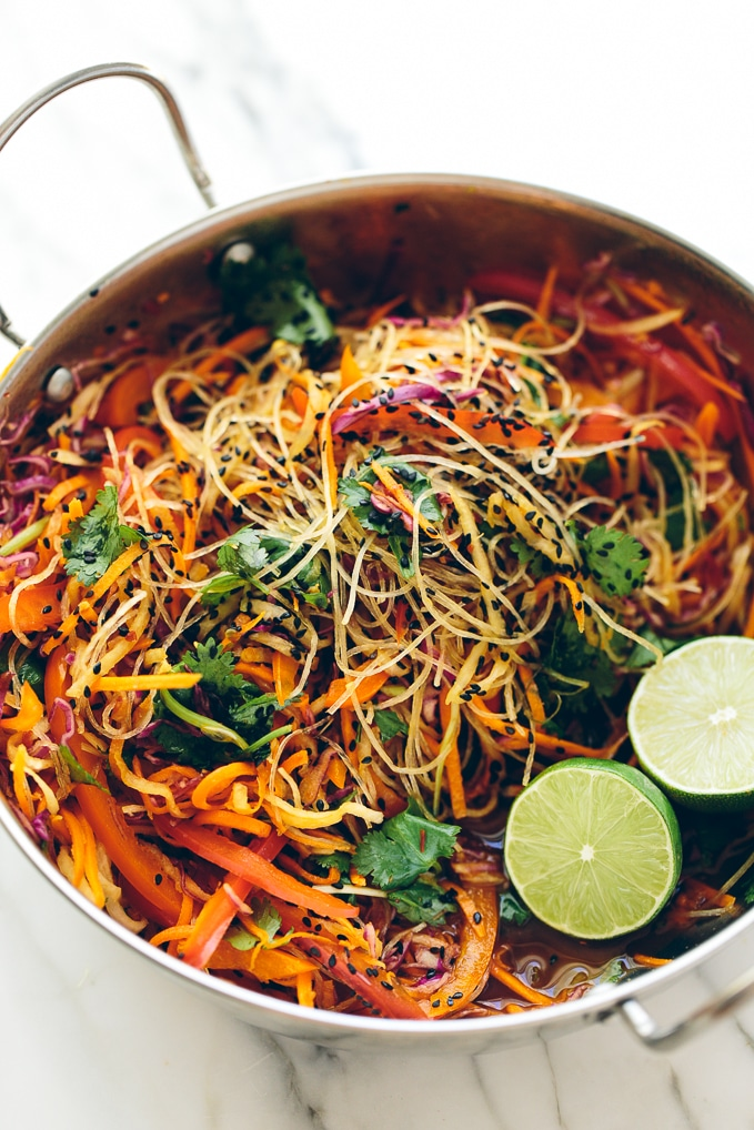 Rainbow Glass Noodle Crunch Salad with Chile-Lime Vinaigrette ...