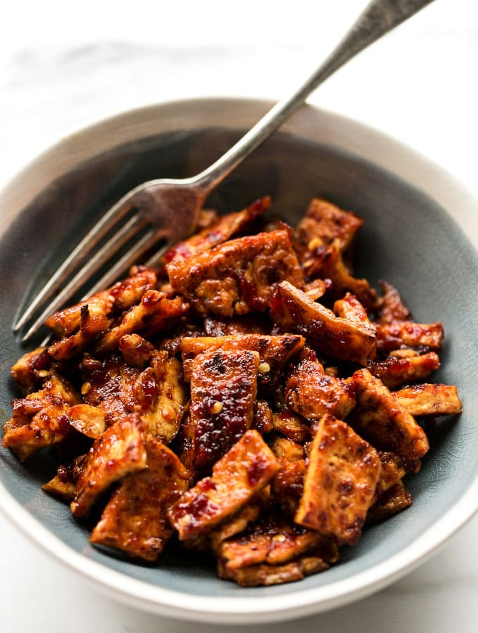 5-Ingredient Spicy Chile-Garlic Tofu