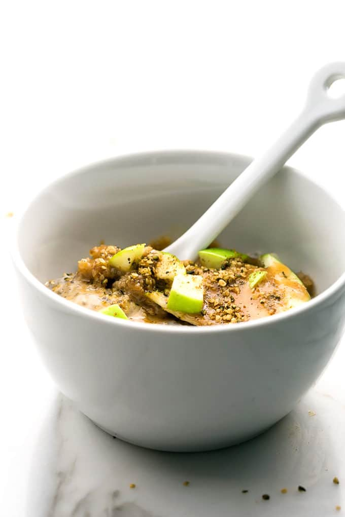 Caramel-Apple Pie Chia Seed Pudding Parfait (Vegan)