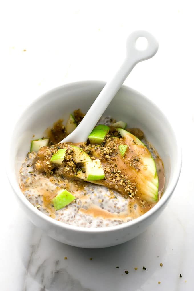 Caramel Apple Pie Chia Seed Pudding Parfait (Vegan)