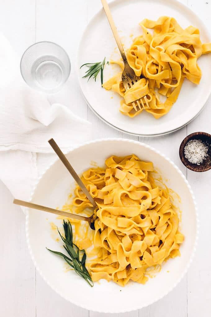 Vegan Sweet Potato Cream Pasta