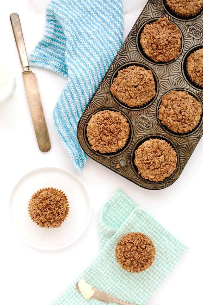 Vegan Gluten-Free Banana Bread Streusel Muffins