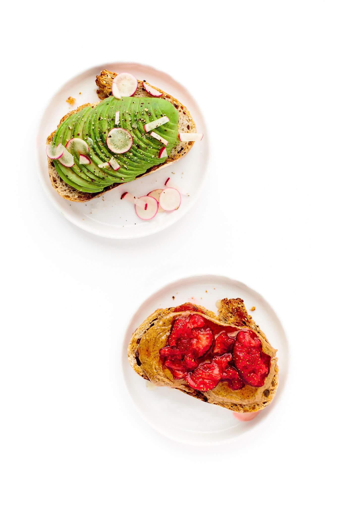 Farmers Market Breakfast Toast Two Ways