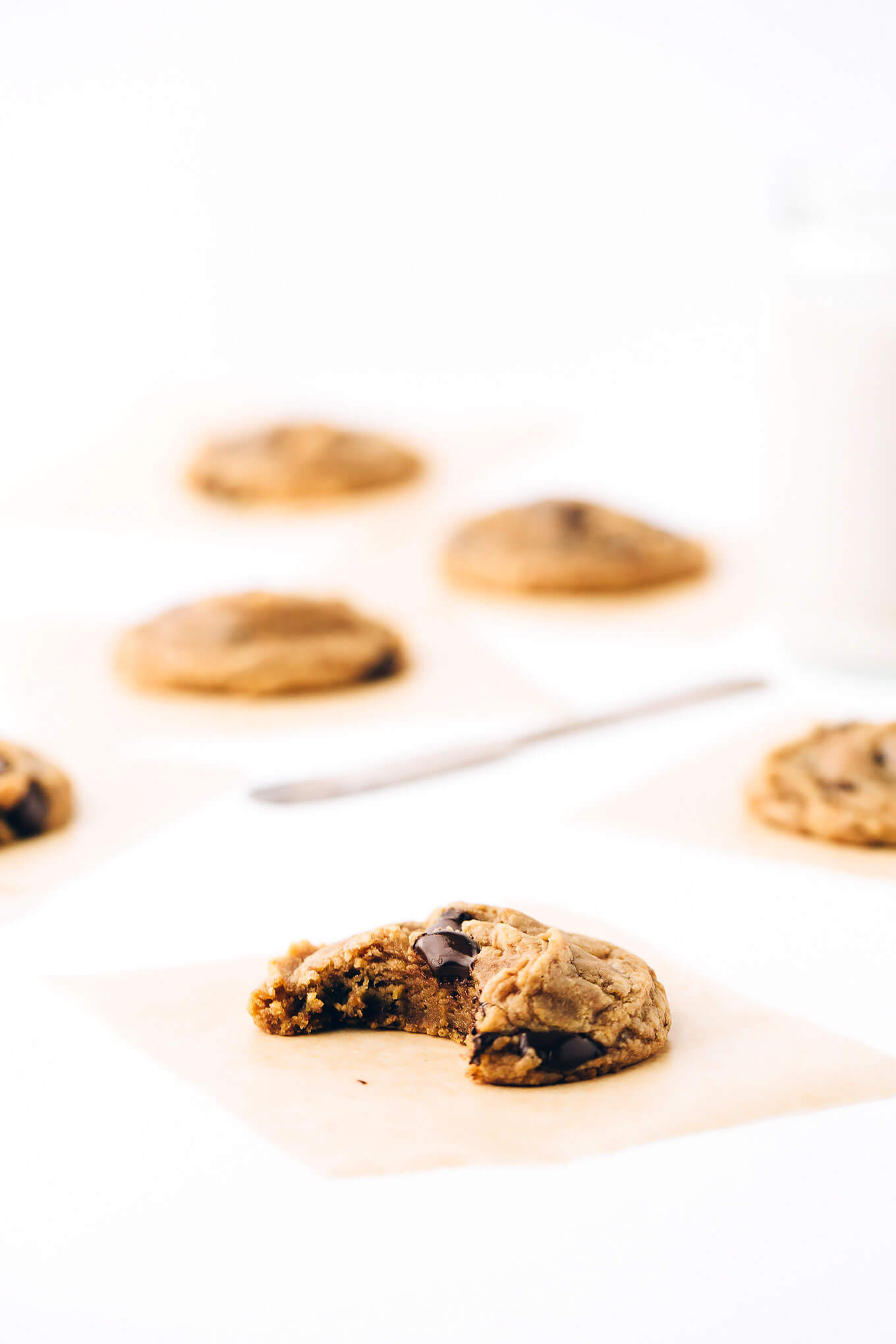 Soft Batch Vegan Chocolate Chip Spelt Cookies
