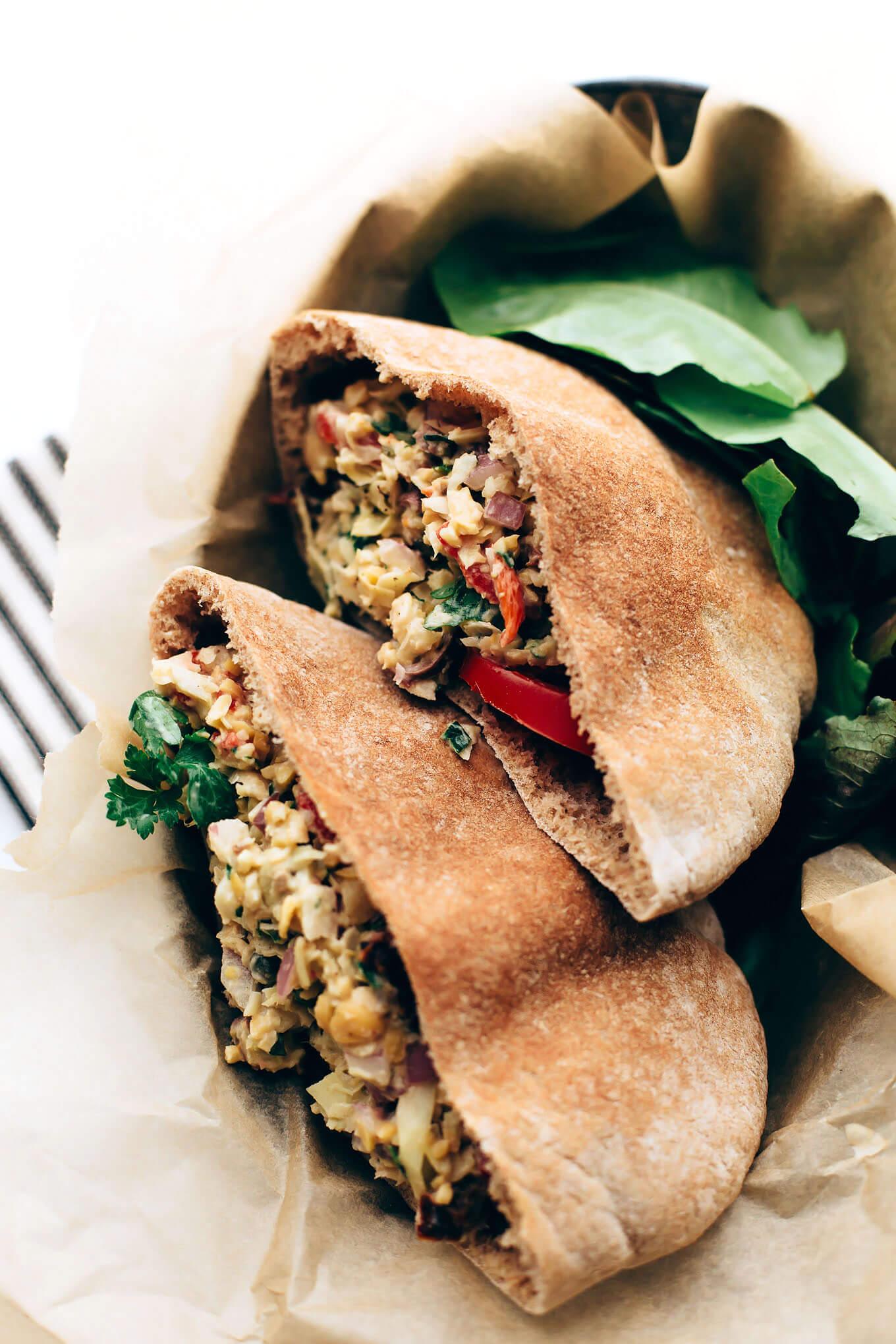 Vegan Mediterranean Un-Tuna Salad
