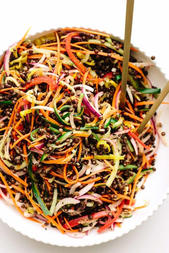 Pickled Vegetable + Beluga Lentil Salad