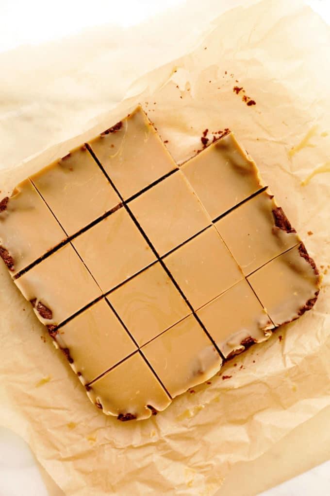 Vegan Gluten-Free Peanut Butter Brownies with PB Glaze
