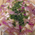 Bay Scallop Ceviche with Blackened Tomatillo-Truffle Sauce
