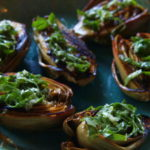 Grilled Baby Artichokes with Lemon-Basil Oil