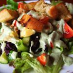 The Random Salad with Blissful Basil Dressing