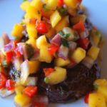 Cinnamon-Spiced Portobello Tenderloin with Mango-Jalapeño Salsa
