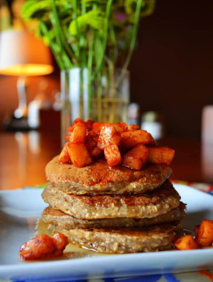 Apple-Banana-Cinnamon Oat Pancakes + The Weekend of ABC's