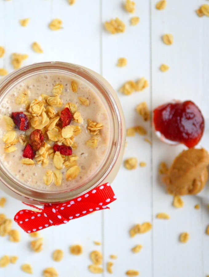 Peanut Butter, Oat + Jam Smoothie