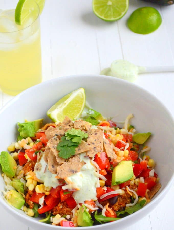 High-Protein Taco Salad + A Rant on Chicago's Winters