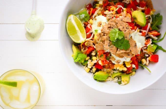 High Protein Taco Salad