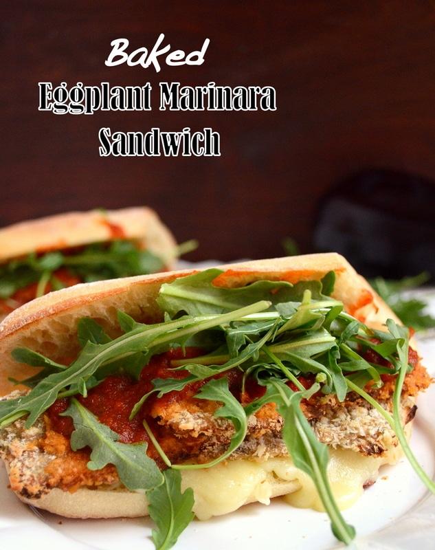 Baked Eggplant Marinara Sandwich