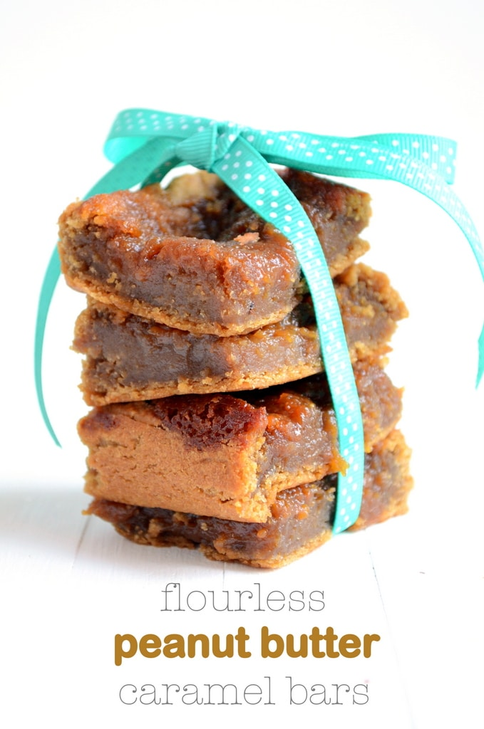 Chickpea Peanut Butter and Caramel Bars