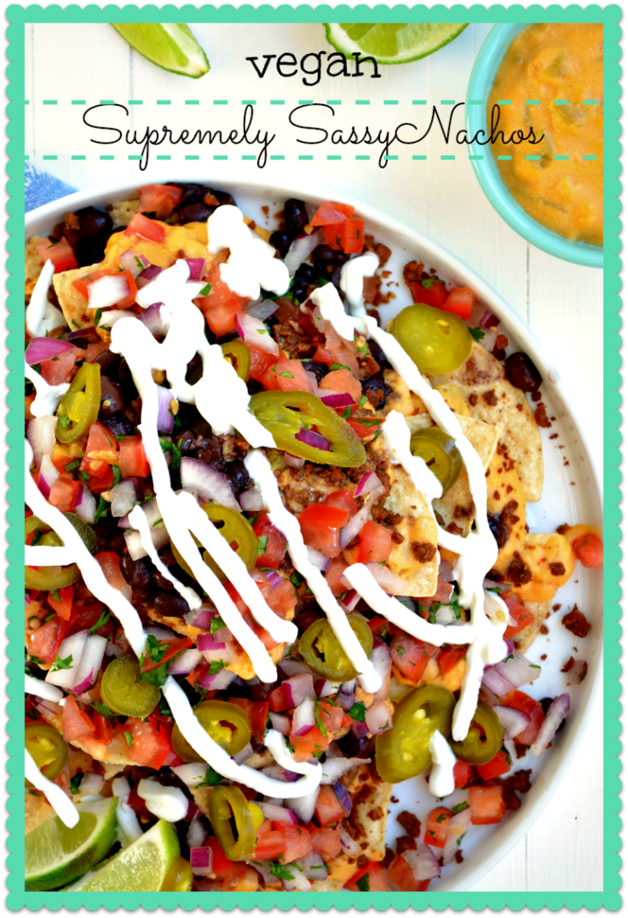 Vegan Supremely Sassy Nachos from blissfulbasil.com