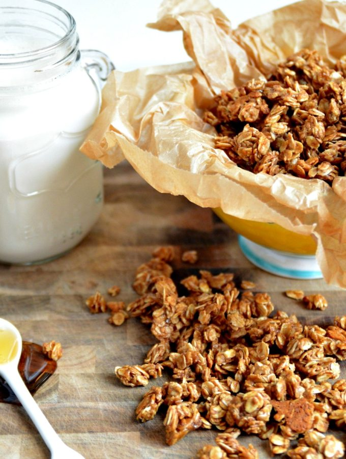 10 Minute Cinnamon-Almond Granola