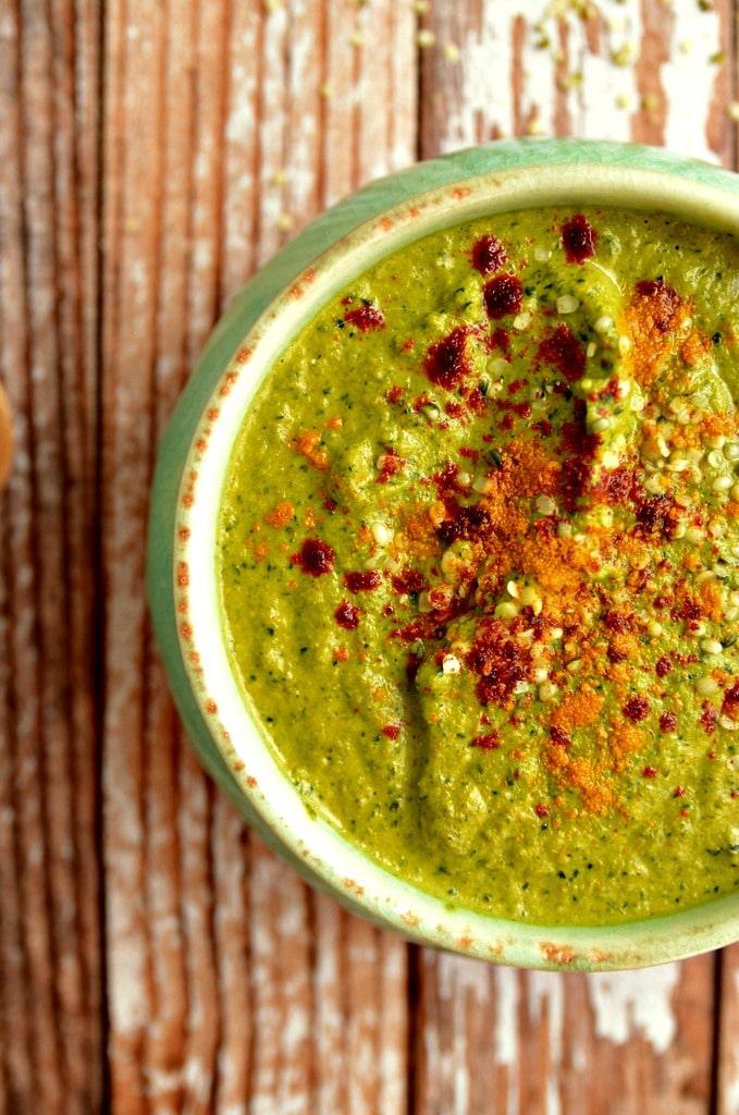Cheezy Broccoli Kale Soup