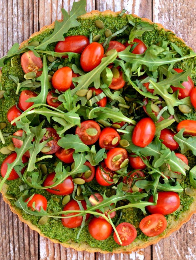 Vegan + Gluten-Free Superfood Pizza with Quinoa Crust