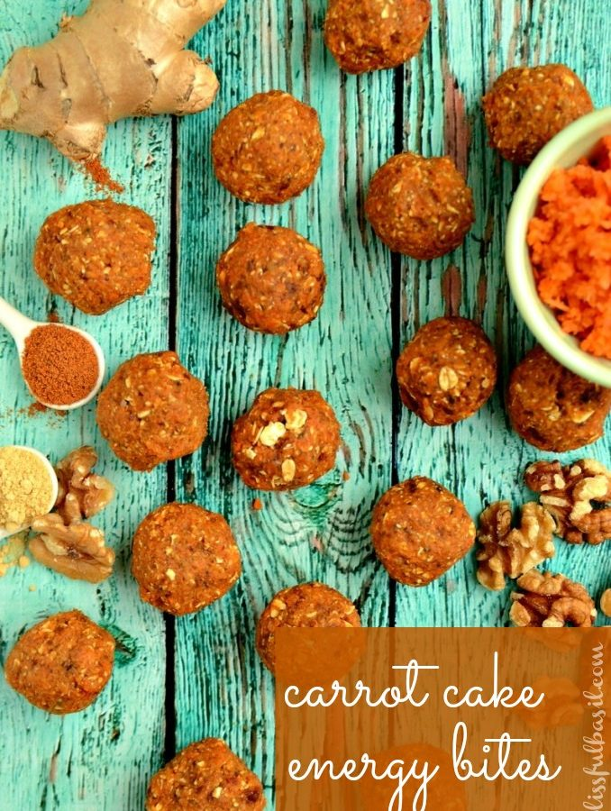 Carrot Cake Energy Bites