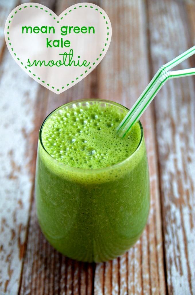 Mean Green Kale Smoothie