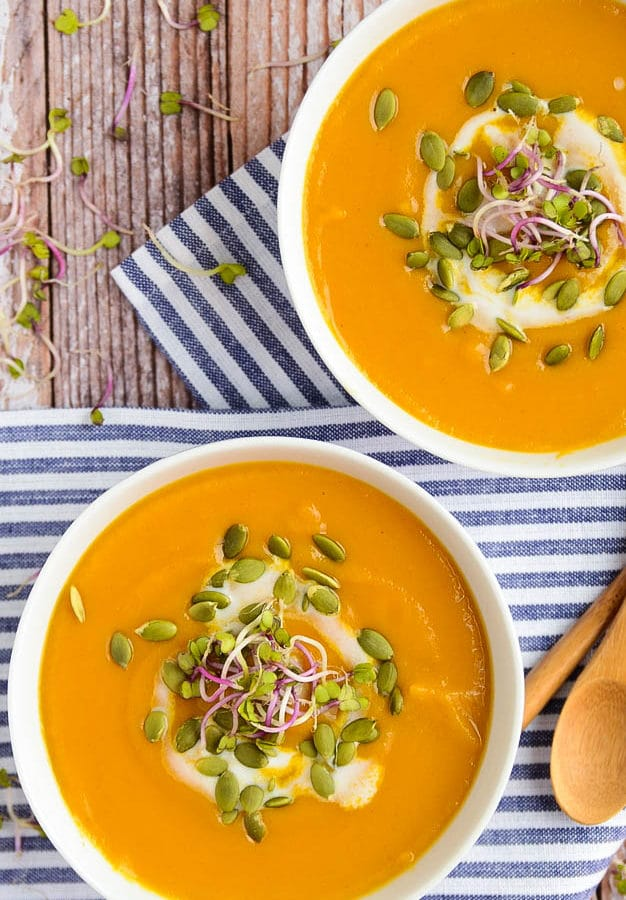 Butternut Squash + Sweet Potato Soup